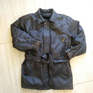 Sergio Badducci Men XL Jacket Black Leather VTG